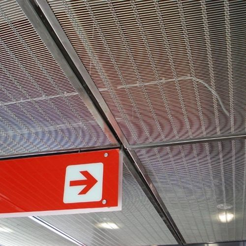 stainless steel suspended ceiling - HAVER & BOECKER OHG