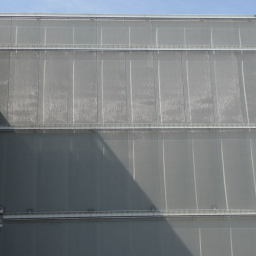 mesh cladding / stainless steel / textured / for ventilated facades