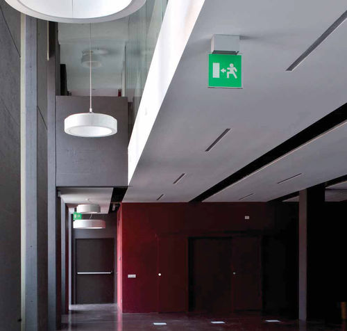 ceiling emergency light / wall-mounted / recessed ceiling / hanging