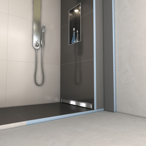 rectangular shower base / fiberglass / concrete / polystyrene