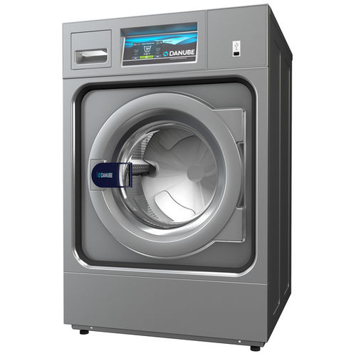 front-loading washer-extractor / floor-mounted / coin-operated / commercial