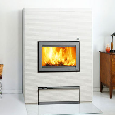 wood boiler stove / contemporary / stone