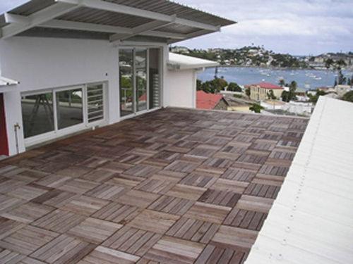 wooden deck slab / patio