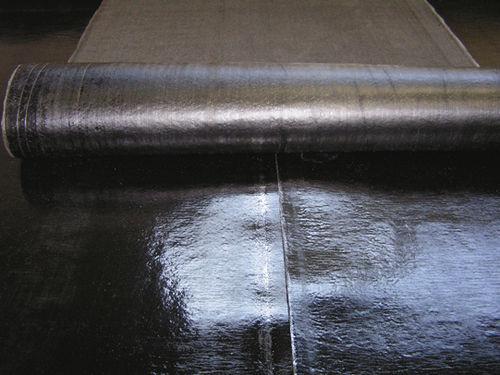 elastomeric vapor barrier / bituminous / fiberglass-reinforced
