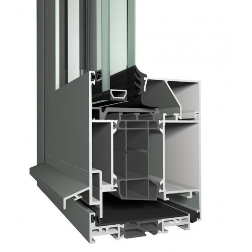 aluminum door profile / security / thermally-insulated