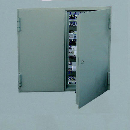 wall access hatch / for suspended ceilings / square / steel
