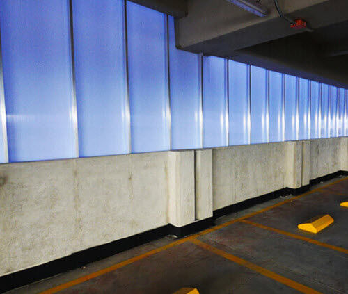 flat polycarbonate panel / for partition walls / for furniture / for roofs