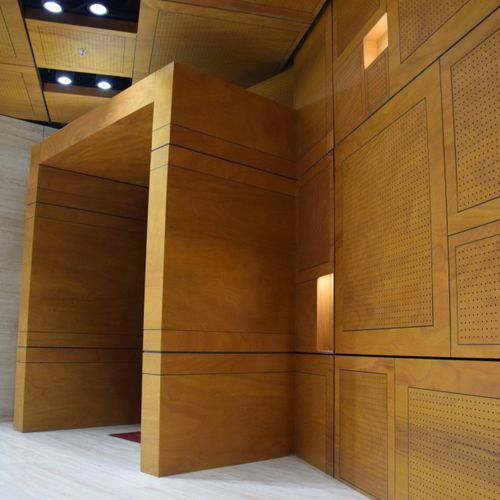 construction wood panel / for interior / wall-mounted / for ceilings