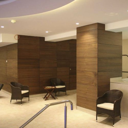 construction wood panel / for ceilings / for facade / for interior