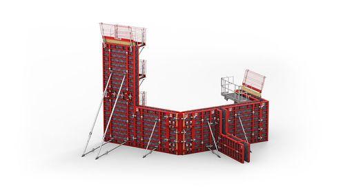 frame formwork / modular / metal / wall