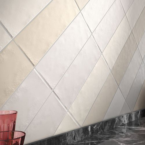 indoor tile / wall / ceramic / rectangular