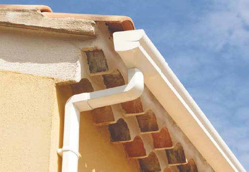 PVC roof gutter / semicircular