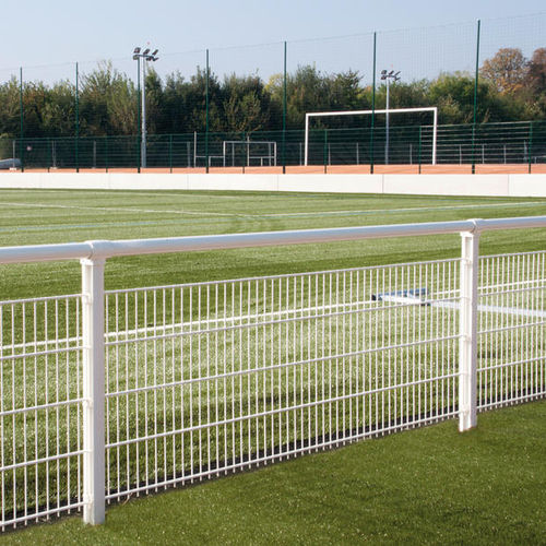 athletic field fence / with bars / aluminum