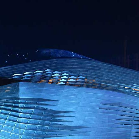 anodized aluminum ventilated facade