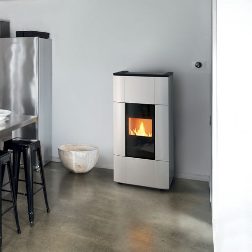 pellet boiler stove / contemporary / ceramic