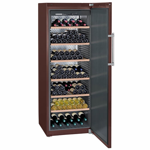 commercial wine cabinet / aluminum / steel / integrated lighting