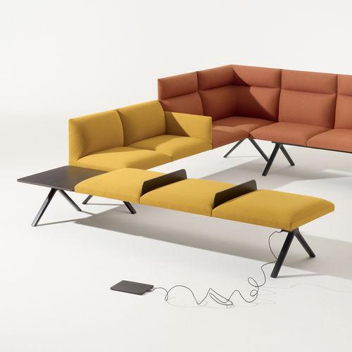 modular upholstered bench - Arper