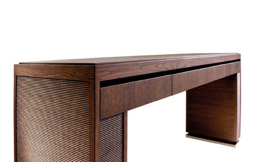 contemporary sideboard table / oak / plywood / rectangular