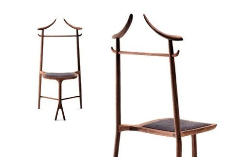 organic design chair / upholstered / oak / American walnut