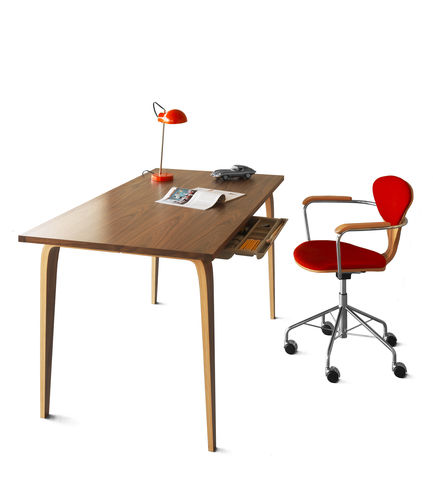 walnut desk / contemporary