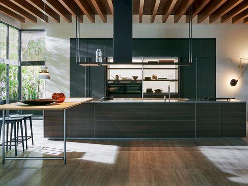 contemporary kitchen / glass / oak / elm