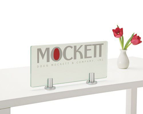 metal glass clamp / for interior