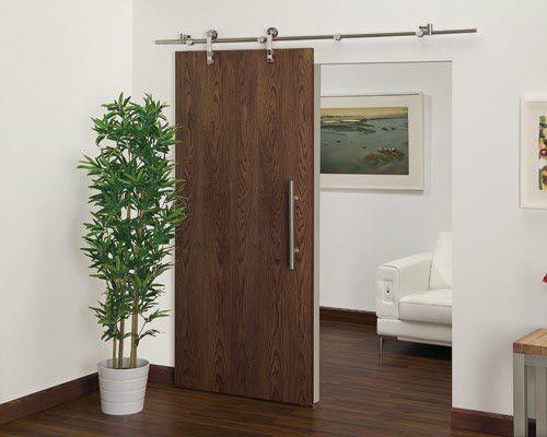 indoor door / sliding / wooden / decorative