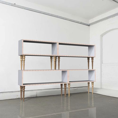 modular shelf / traditional / wooden