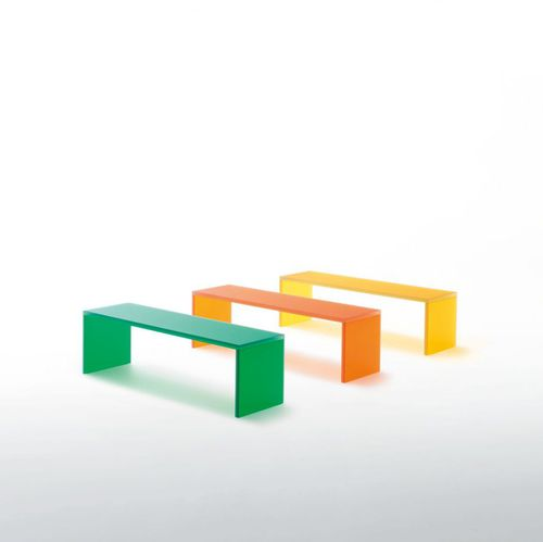 contemporary bench / glass / by Michele De Lucchi