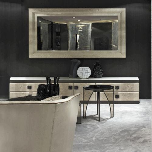 wall-mounted mirror / contemporary / rectangular / metal