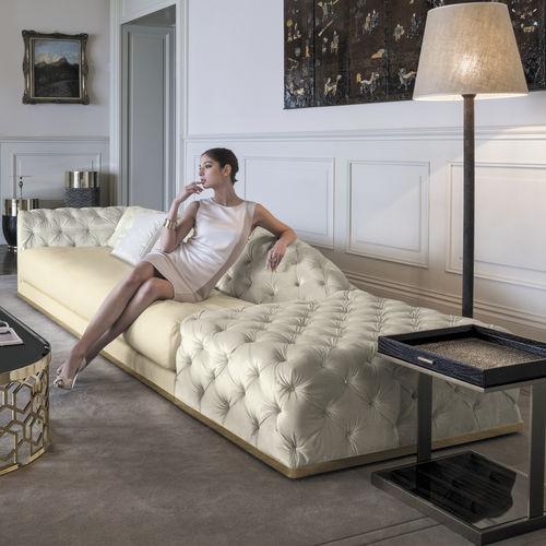 modular sofa / Chesterfield / fabric / leather