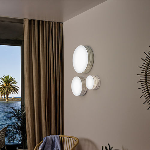 contemporary wall light / wood / acrylic / LED