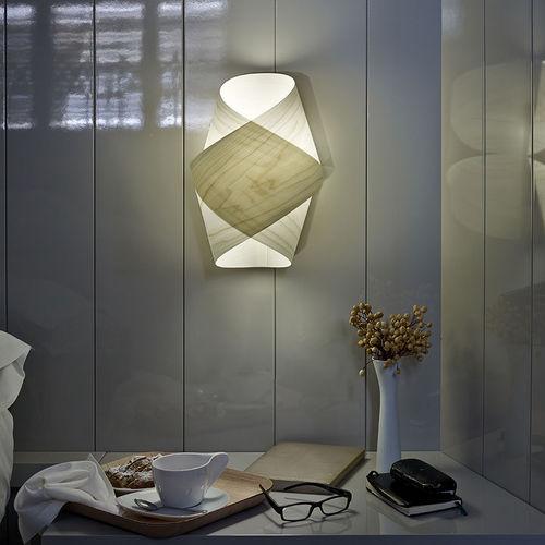 original design wall light / wooden / LED / handmade