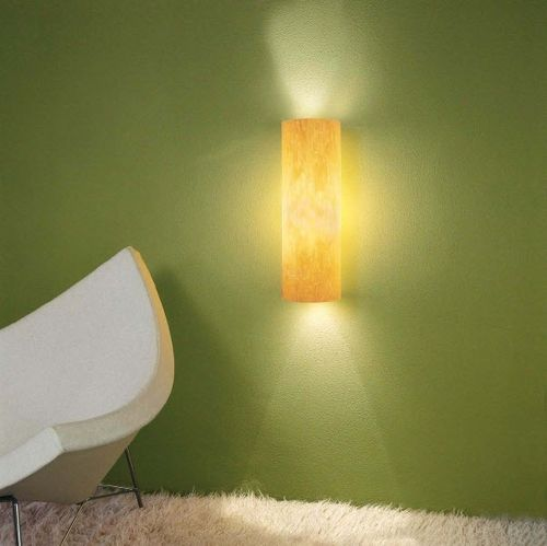 contemporary wall light / wooden / LED / compact fluorescent