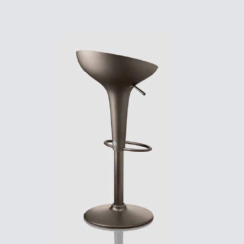 contemporary bar stool / stainless steel / cast aluminum / swivel