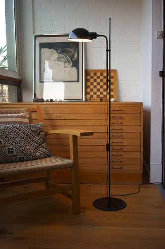 floor-standing lamp / contemporary / aluminum / iron