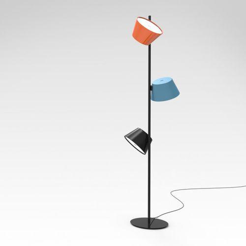 floor-standing lamp / contemporary / metal / reading
