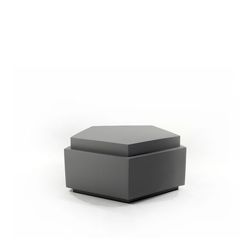 contemporary pouf / fabric / leather / coated foam