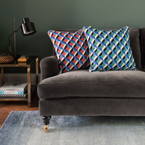 sofa cushion / square / patterned / wool