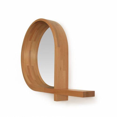 wall-mounted mirror / contemporary / oak / walnut