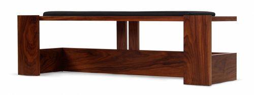 contemporary bench / oak / walnut / beech