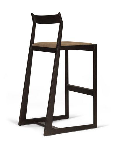contemporary bar chair / upholstered / oak / walnut