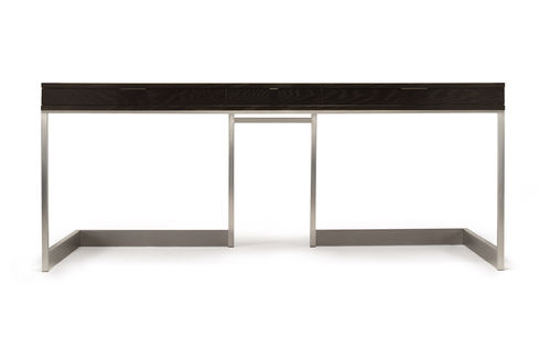 walnut desk / ash / stainless steel / contemporary