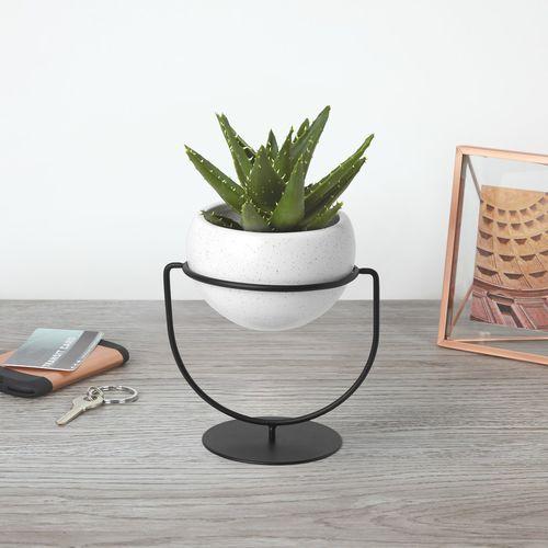ceramic garden pot / round