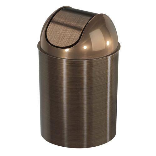bathroom trash can / metal / plastic / contemporary