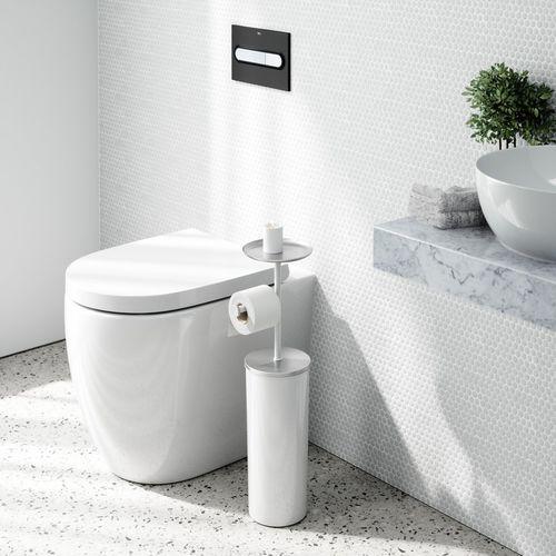 floor-mounted toilet roll holder