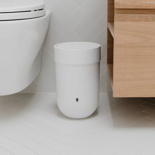 Bathroom Trash Can Touch Umbra, Bathroom Trash Can With Swing Lid