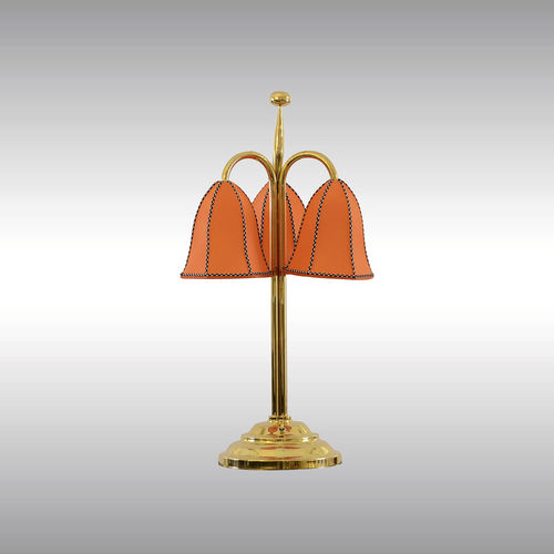 table lamp / traditional / fabric / brass