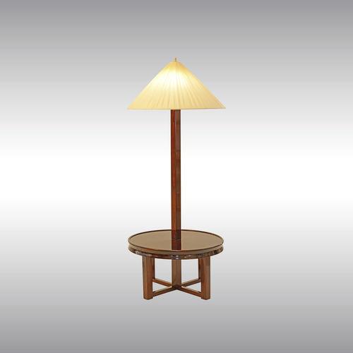 floor-standing lamp / traditional / silk / wooden