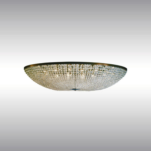 traditional ceiling light / round / crystal / brass